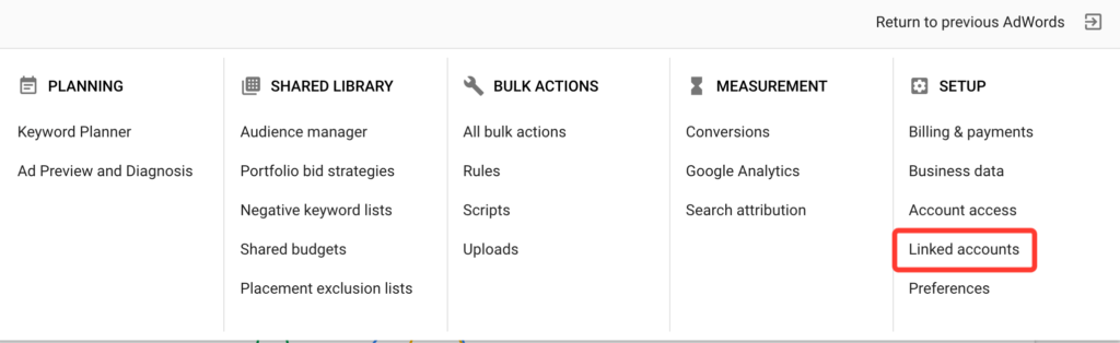 Linking Google AdWords and Google Analytics
