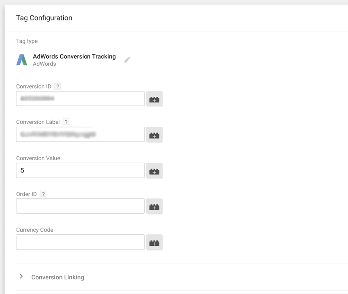 Google Tag Manager AdWords Conversion Tracking