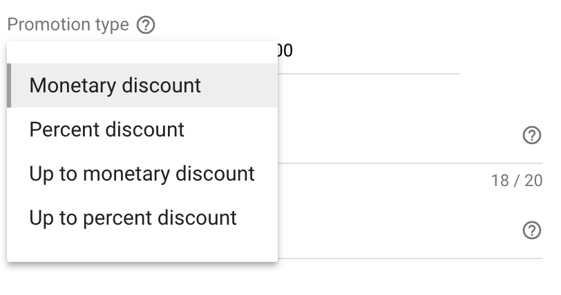 AdWords promotion extension