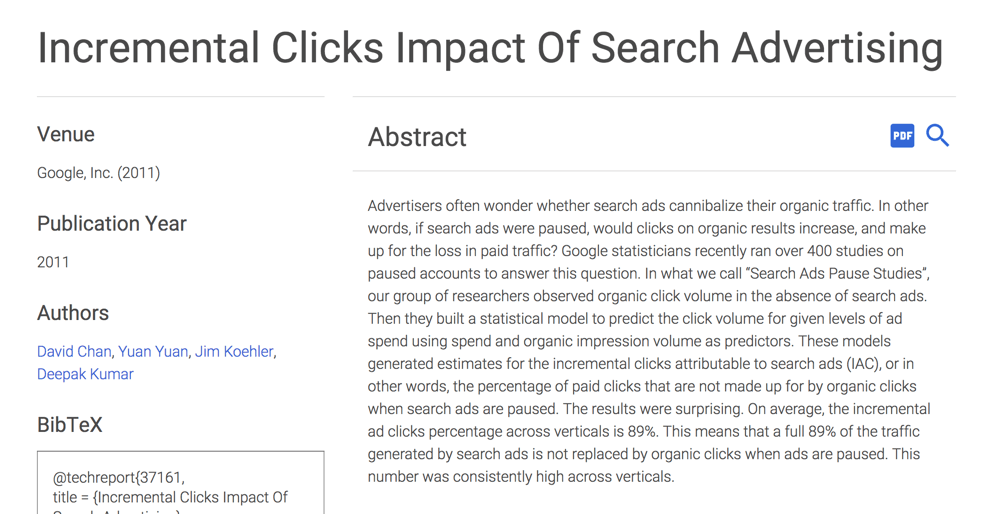 incremental clicks for paid ads