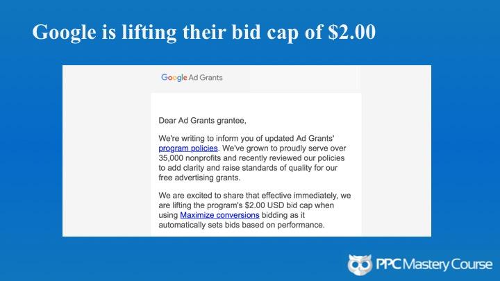 Ad Grants bid caps removed