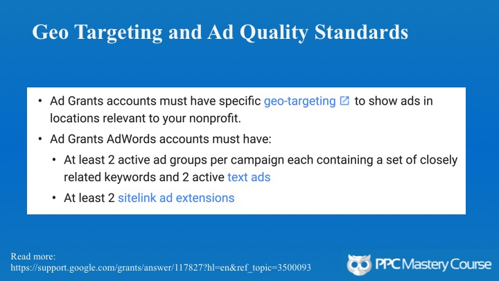 Google Ad Grants Changes for 2018 - PPC Mastery Course