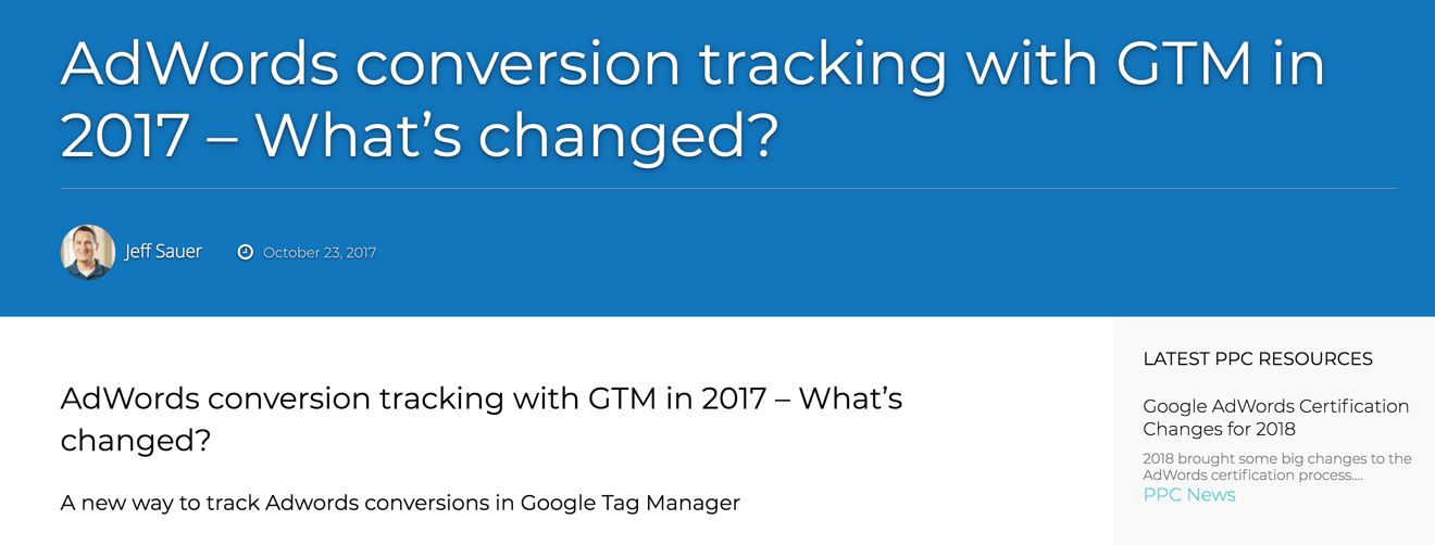 conversion tackin in GTM